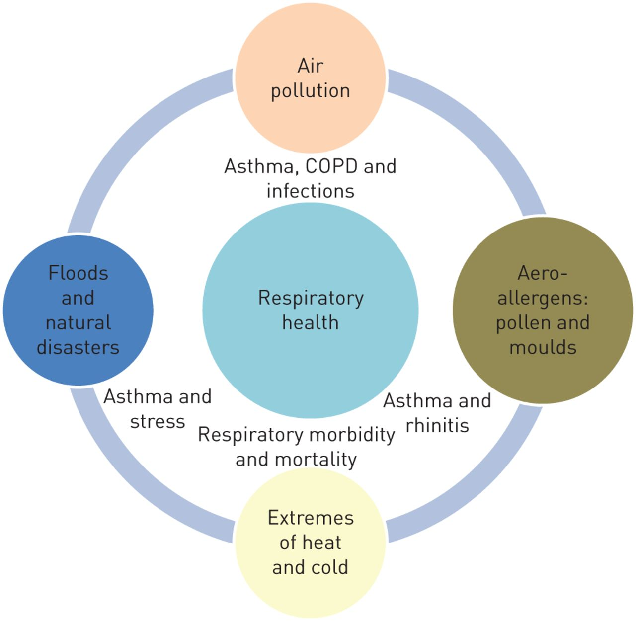 the relationship between infectious and chronic respiratory diseases an overview
