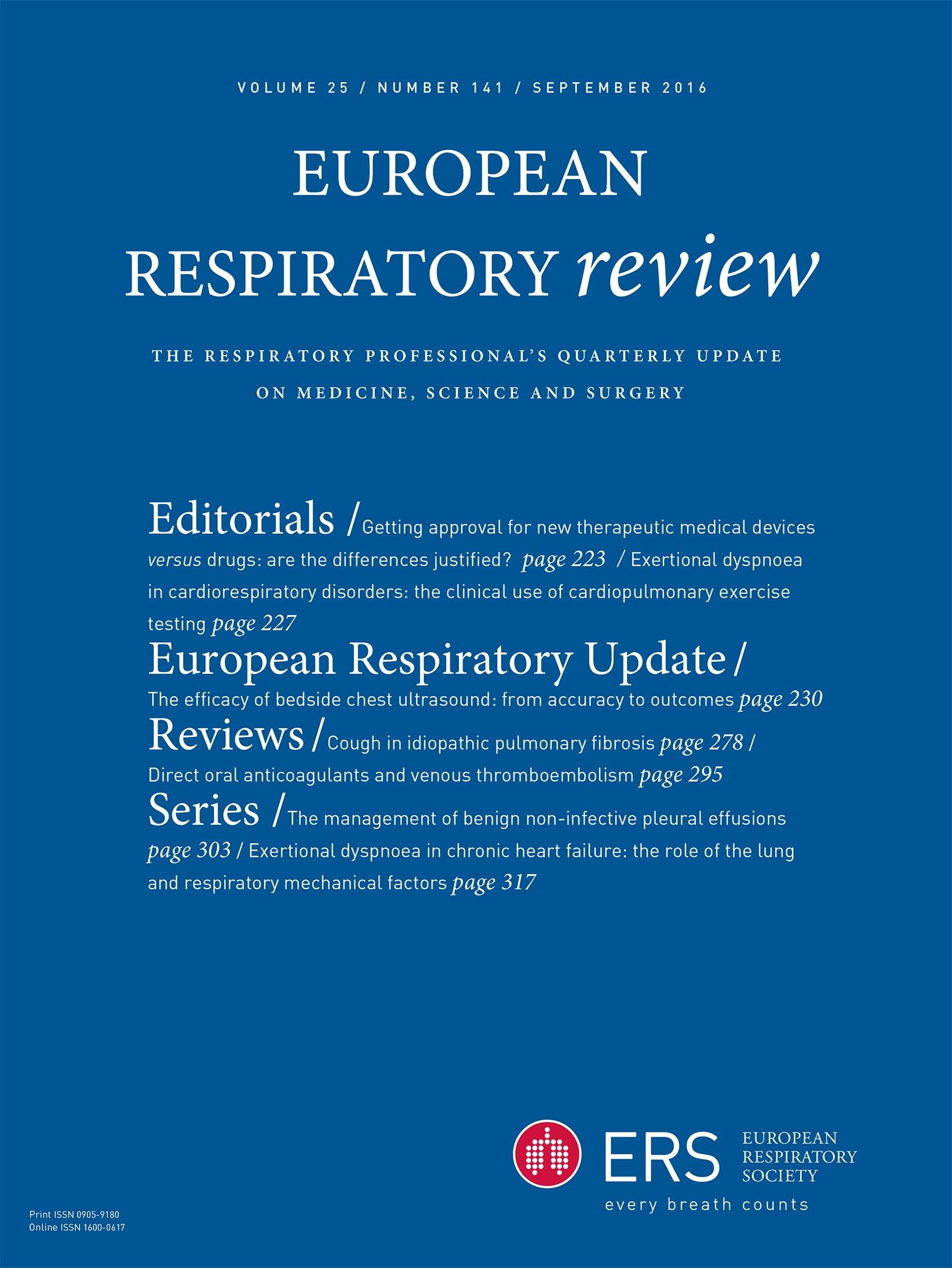 Cough in idiopathic pulmonary fibrosis | European Respiratory Society