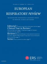 European Respiratory Review: 25 (139)