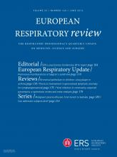 European Respiratory Review: 25 (140)