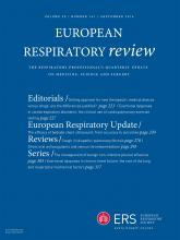 European Respiratory Review: 25 (141)