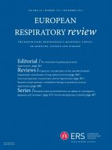 European Respiratory Review: 25 (142)